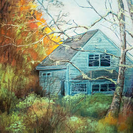 Philip Lodwick Wilkinson - Winter Blues, Orange Sunrise