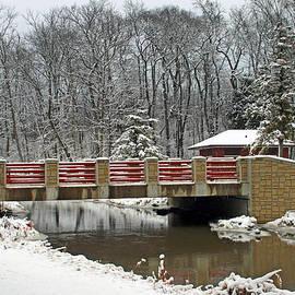 Winter Bridge At Petrifying Springs Park by Kay Novy
