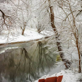 Debra and Dave Vanderlaan - Winter Contemplation Abstract Painting