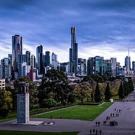 Winter Day In Melbourne Panorama by Franz Zarda