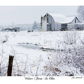 Winter Farm In Ohio by John Radosevich