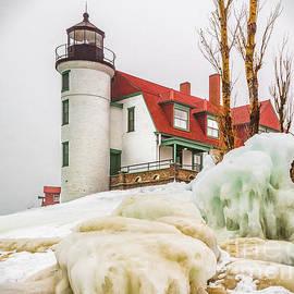 Nick Zelinsky - Winter Ice at Point Betsie Light