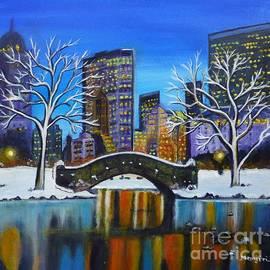 Manjiri Kanvinde - Winter in New York- Night Landscape