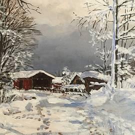 Svetislav Meandzija - Winter landscape in Obljaj, Croatia