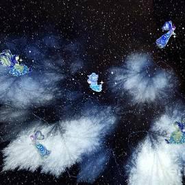 Winter Leaves And Fairies by Diamante Lavendar