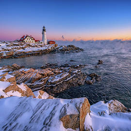 Rick Berk - Winter Morning at Portland Head Lighthouse