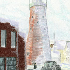 Winter On Munjoy Hill by Dominic White