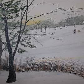 Winter On The Lake by Audrey Bunchkowski
