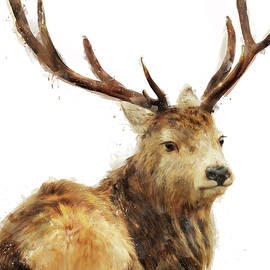 Winter Red Deer - Amy Hamilton