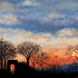Winter Silhouette Sunset by Philip Harvey
