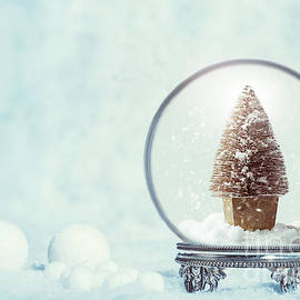 Winter Snow Globe With Christmas Tree - Amanda Elwell