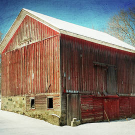 David T Wilkinson - Winter Weathered Barn Re-imagined
