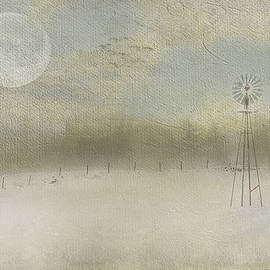 Expressive Landscapes Fine Art Photography by Thom - Winter Windmill Dreamscape
