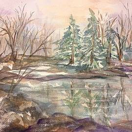 Ellen Levinson - Winter Woods 2 Frozen Pond