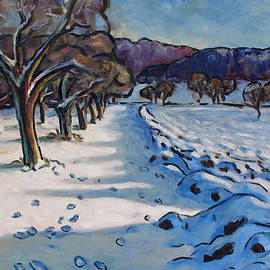 Stefan Boettcher - Winterly Meadow with Fruit Trees