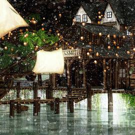 Wintery Inn by Digital Art Cafe