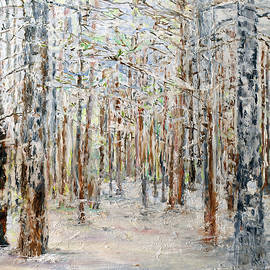 Wintry Woods by Michele A Loftus