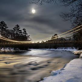 John Meader - Wire Bridge Under a Full Moon