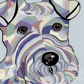 Eloise Schneider - Wire Hair Terrier Denim Colors