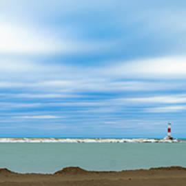 Wisconsin Winter Lakefront by Steven Santamour