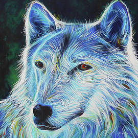 Wise White Wolf by Angela Treat Lyon