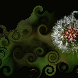 Lesa Fine - WISH Dandelion Art by Lesa Fine