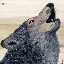 Wolf art work by Dwight Cook
