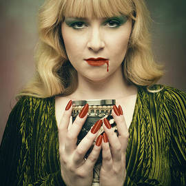 Woman Holding Goblet - Amanda Elwell