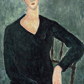 Amedeo Modigliani - Woman in a Blue Dress Seated