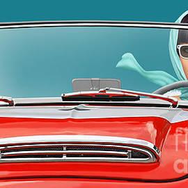 Monika Juengling - Woman in a vintage cabriolet