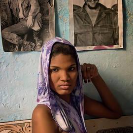 Joan Carroll - Woman in Purple Havana Cuba