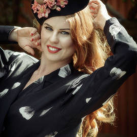 Woman In Vintage Clothing - Amanda Elwell