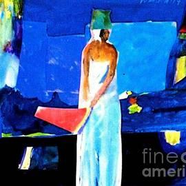Harry WEISBURD - Woman In White City Lights