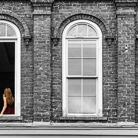 Woman in Window by Sharon Popek