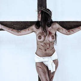 Ramon Martinez - Woman Jesus on cross I