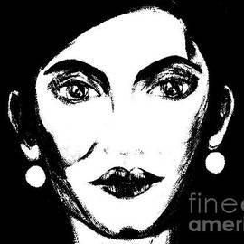 Oksana Semenchenko - Portrait of a Woman in Black