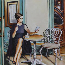 Andy Lloyd - Woman Sat at a Cafe Table 2