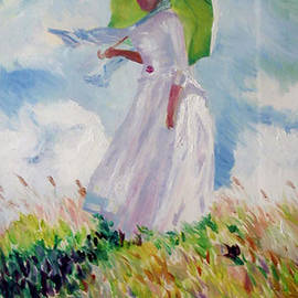Woman With A Parasol by James Lavott