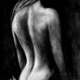 Woman's pretty back by Walter Israel