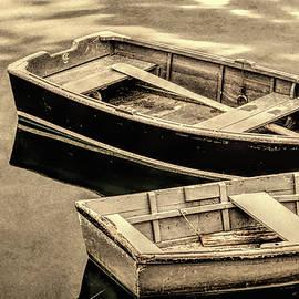 David Smith - Wood Rowboats Sepia Distressed