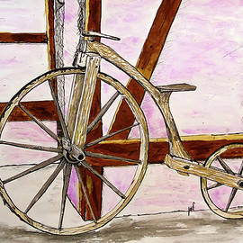 Wooden bike by Maria Woithofer