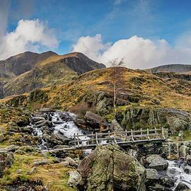 Wooden Foot Bridge Snowdonia by Adrian Evans