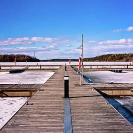 Jukka Heinovirta - Wooden Pier On A Frozen Lake