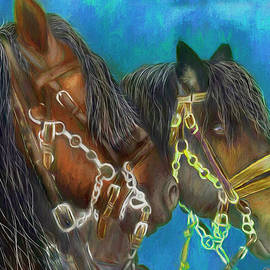 Work Horses 460 - Painting by Ericamaxine Price