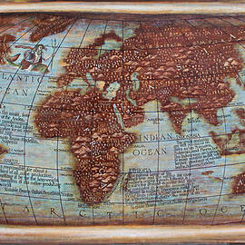 Map of the world-world map- the history of coffee map detaile by Vali Irina Ciobanu
