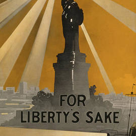 World War One recruiting poster with the Statue Of Liberty - American School