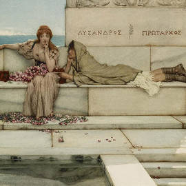 Xanthe And Phaon by Lawrence Alma-Tadema