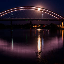 Hasting Bridge at Night by Patti Deters