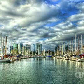 Reid Callaway - Yachts Ala Wai Harbor Waikiki Yacht Club Honolulu Hawaii Collection Art