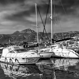 Yachts in Calvi by Maria Coulson
